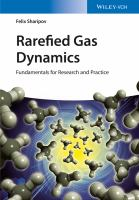 Rarefied gas dynamics [electronic resource] : fundamentals for research and practice