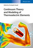 Continuum Theory of Thermoelectric Elements [electronic resource]