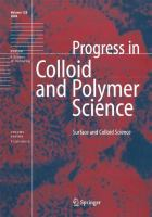 Surface and Colloid Science [electronic resource]