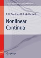 Nonlinear continua [electronic resource]