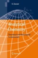 Analytical chemistry [electronic resource] : theoretical and metrological fundamentals