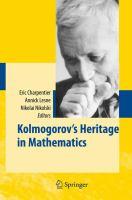 Héritage de Kolmogorov en mathématiques. English.