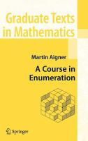 A course in enumeration [electronic resource]