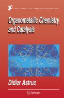 Organometallic chemistry and catalysis [electronic resource]