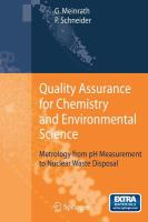 Quality assurance for chemistry and environmental science [electronic resource] : metrology from pH measurement to nuclear waste disposal