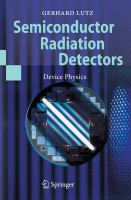 Semiconductor radiation detectors [electronic resource] : device physics
