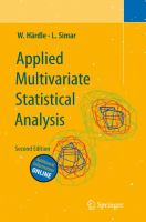 Applied multivariate statistical analysis [electronic resource]