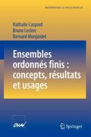 Ensembles ordonnés finis [electronic resource] : concepts, résultats et usages