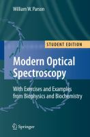 Modern optical spectroscopy [electronic resource] : with exercises and examples from biophysics and biochemistry
