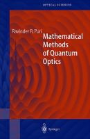 Mathematical Methods of Quantum Optics [electronic resource]