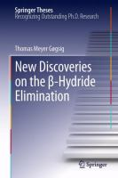 New Discoveries on the β-Hydride Elimination [electronic resource]