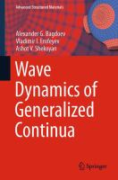Wave Dynamics of Generalized Continua [electronic resource]