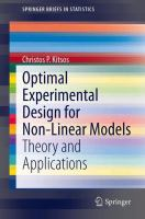 Optimal experimental design for non-linear models [electronic resource] : theory and applications