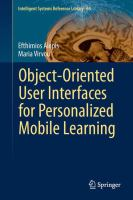 Object-oriented user interfaces for personalized mobile learning [electronic resource]