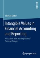 Intangible Values in Financial Accounting and Reporting [electronic resource] : An Analysis from the Perspective of Financial Analysts