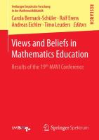 Views and beliefs in mathematics education [electronic resource] : results of the 19th MAVI Conference