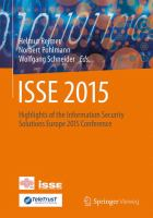 ISSE 2015 [electronic resource] : Highlights of the Information Security Solutions Europe 2015 Conference
