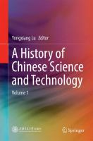 A History of Chinese Science and Technology [electronic resource] : Volume 1
