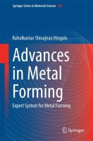 Advances in metal forming : expert system for metal forming