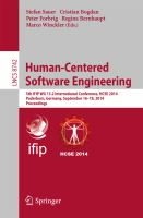 Human-Centered Software Engineering [electronic resource] : 5th IFIP WG 13.2 International Conference, HCSE 2014, Paderborn, Germany, September 16-18, 2014. Proceedings