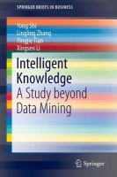 Intelligent knowledge [electronic resource] : a study beyond data mining