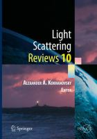 Light Scattering Reviews 10 [electronic resource] : Light Scattering and Radiative Transfer