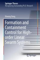 Formation and Containment Control for High-order Linear Swarm Systems [electronic resource]