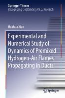 Experimental and Numerical Study of Dynamics of Premixed Hydrogen-Air Flames Propagating in Ducts [electronic resource]