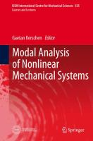 Modal Analysis of Nonlinear Mechanical Systems [electronic resource]