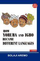 How Yoruba and Igbo became different languages