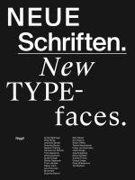 Neue Schriften = New typefaces : Positionen und Perspektiven