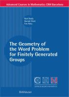 The geometry of the word problem for finitely generated groups [electronic resource]