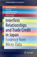 Interfirm Relationships and Trade Credit in Japan [electronic resource] : Evidence from Micro-Data