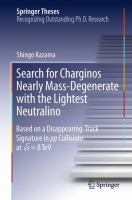 Search for Charginos Nearly Mass-Degenerate with the Lightest Neutralino [electronic resource] : Based on a Disappearing-Track Signature in pp Collisions at ?s = 8 TeV