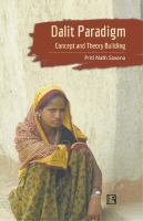 Dalit paradigm : concept and theory building /