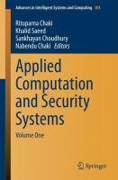 Applied Computation and Security Systems [electronic resource] : Volume One