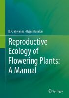 Reproductive ecology of flowering plants [electronic resource] : a manual