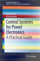 Control systems for power electronics [electronic resource] : a practical guide