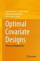 Optimal Covariate Designs [electronic resource] : Theory and Applications
