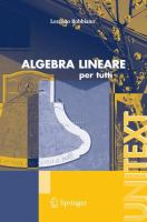 Algebra lineare [electronic resource] : Per tutti