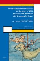 Christoph Rothmann's Discourse on the comet of 1585 [electronic resource] : an edition and translation with accompanying essays