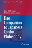 Dao companion to Japanese Confucian philosophy [electronic resource]