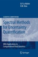 Spectral methods for uncertainty quantification [electronic resource] : with applications to computational fluid dynamics