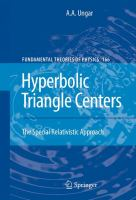 Hyperbolic triangle centers [electronic resource] : the special relativistic approach