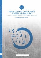 Processing compound verbs in Persian : a psycholinguistic approach to complex predicates