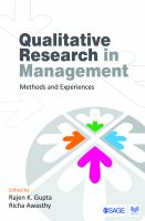 Qualitative research in management : methods and experiences