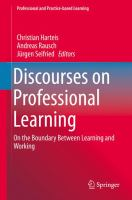 Discourses on professional learning [electronic resource] : on the boundary between learning and working
