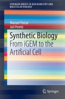 Synthetic biology [electronic resource] : from IGEM to the artificial cell