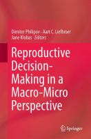 Reproductive Decision-Making in a Macro-Micro Perspective [electronic resource]