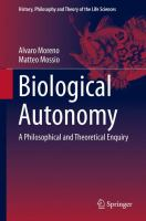 Biological autonomy [electronic resource] : a philosophical and theoretical enquiry